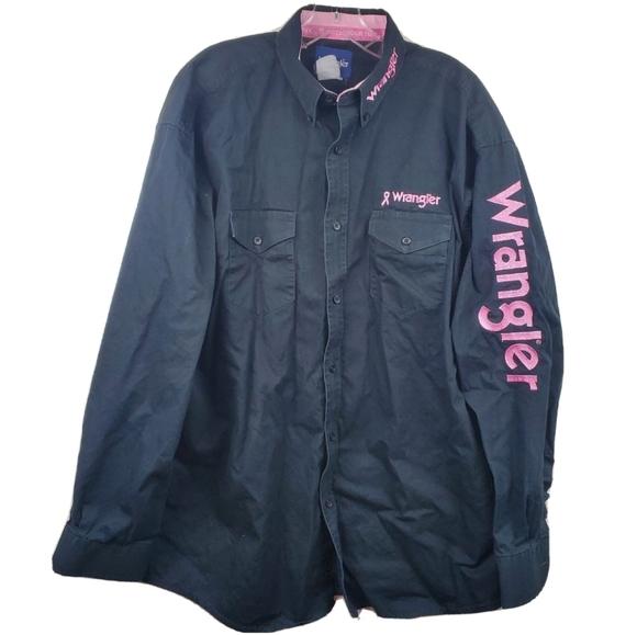 Wrangler Breast Cancer Awareness Button Down Shirt